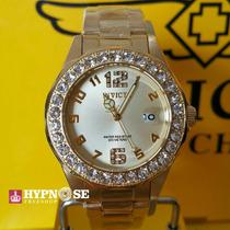 Relógio Invicta Angel Feminino 21397 Original Dourado Crista