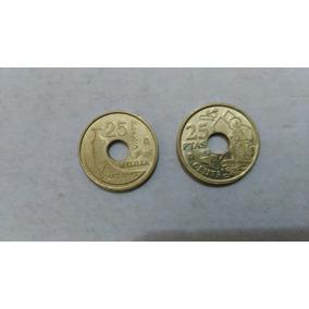 Monedas Lote X 2 España 25 Pesetas 1997 Y 1998