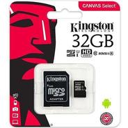 Memoria Micro Sd De 32gb Kingston Clase 10 80mb/s +adaptador