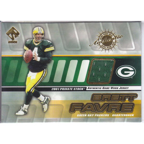 2001 Private Stock Jersey Brett Favre Qb Packers