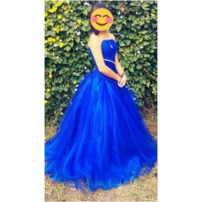 Vestido Xv Años Azul Rey Con Crinolina Y Mas