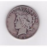 Ltc041: 1 Dólar De Plata De 1922 D.