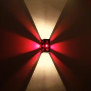 Pack X3 Apliques Pared Efecto Estrella De Navidad Luces Roja