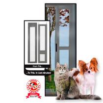 Puerta Modular Aluminio Color Plata Chica Perro Gato Casa