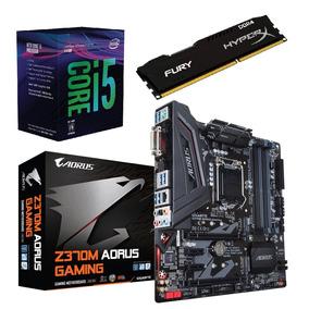 Kit 8ª Geração- I5 8400+ Mb Ga Z370m Aorus+ 8gb 2400 Mhz
