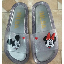 Chinelo Estilo Melissa Bach Slide Mickey Minnie Adulto