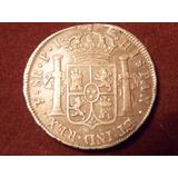 Antique, Bella Moneda 8 Reales De Plata, Potosi Año 1823