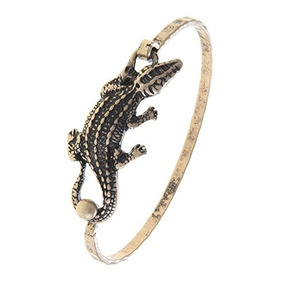 La Joya Racing Alligator Charm Bangle Bracelet (oro Antiguo