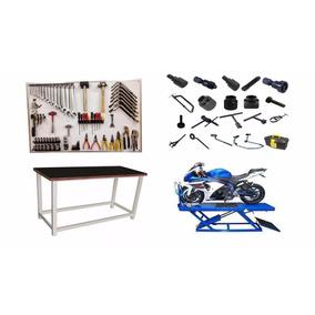 Oficina Completa Para Motos C/ Ferramentas Especiais Convenc