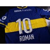 Camiseta Oficial De Boca Jrs Ultima De Romann 2014 Nueva