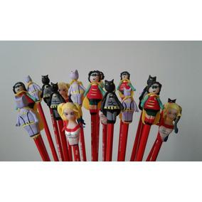 Lapices Souvenir Lego Batman Harley Quinn Batichica Robin