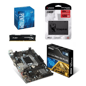 Kit - Pentium G4560 + H110m Pro Vh Plus + Fury 8gb + Ssd 120