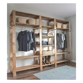 Closet para ropa de madera en mercado libre m xico for Valor closet en madera