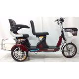Triciclo Elétrico 500w Lazio Duas Cadeiras Alarme Marcha Ré