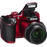 Cam. Nikon B500 16mp 40x Zoom Fullhd Wifi Negra / Roja