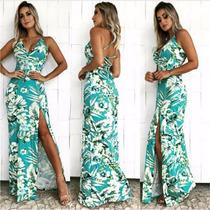 Vestido Dress Fenda Longo Envelope Viscolycra Com Bojo