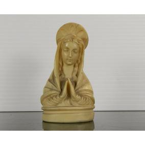 Busto Vintage Tallado A Mano En Pasta De La Virgen María