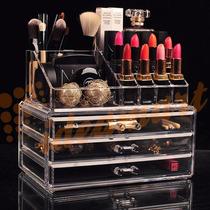 Organizador Porta Maquiagem Batom Maleta Acrilico 3 Gavetas