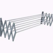 Varal De Parede Sanfonado Em Alumínio Resistente 100 Cm