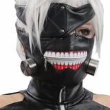 Mascara Kaneki Ken Negra Cuerotex Cosplay Tokyo Ghoul Regalo