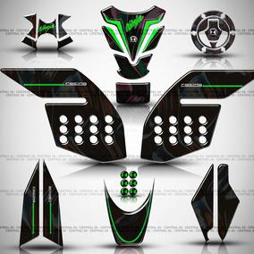 Kit Protetor Kawasaki Ninja 300 Verde Tanque + Peças