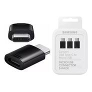 Adaptador Samsung Usb Tipo C - A - Micro-usb Ee-gn930k X 3