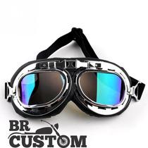 Óculos Aviador Rainbow Espelhado Estilo Vintage Retro Moto