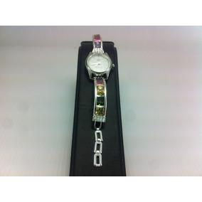 Reloj De Plata 925 Piedras De Zirconia Para Dama Multicolor