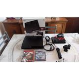 Sony Play Station 3 Slim + 30 Juegos Fisicos Y Un Mando Orig
