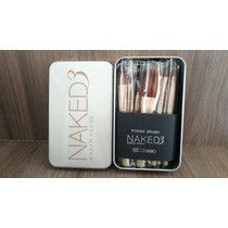 Kit Pinceis 12 Pincel Naked 3 Maquiagem Mac Mary Kay Base