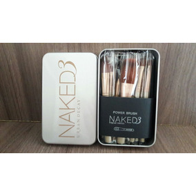 Kit Pinceis 12 Pincel Naked 3 Maquiagem Mac Mary Kay Base