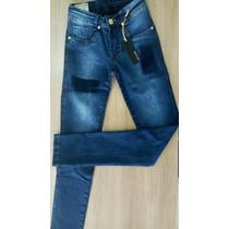 Calça Jeans Feminina Patoge Skinny Detalhada