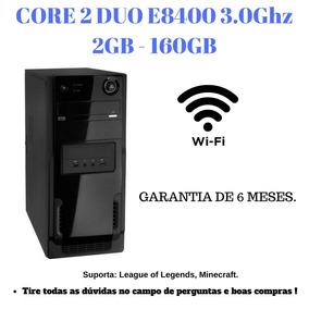 Cpu Core 2 Duo E8400 3.0ghz 2gb 160gb Wi-fi Nova