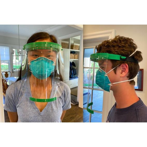 Mascara Protector Facial Completa Vincha Sanitaria 3d