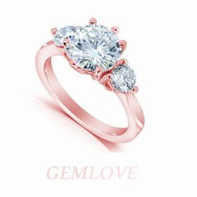 Remate Anillo Compromiso Oro Rosa 14k Diamante Grafito 50pts