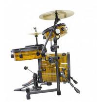 Bateria Acústica Rmv Bistrô Pocket Drumkit - Yellow Zebrano