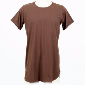Camiseta Camisa Lisa Longa Swag Oversized Longline Alongada