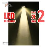 Aplique Led Pared Unidireccional Lente 9fx Potente Pack X2u