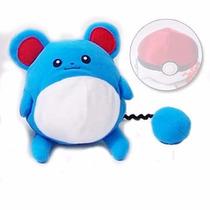 Boneco Pelúcia Pokémon Marill Pokedex Raro Barato - Pokébola