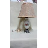 Lampara De Mesa Antigua Francesa En Porcelana Con Caperuza