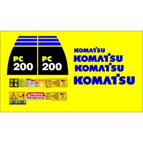 Kit Adesivo Komatsu Pc200