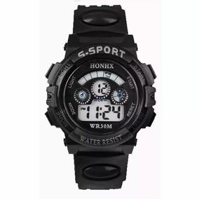 Relógio Digital Masculino Preto Barato