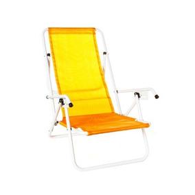 Reposera Sillon Plegable Playa -jardin 5 Pos Pack 2 Unidade