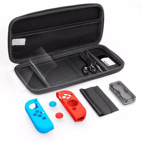Estuche Nintendo Switch + 10 Accesorios Mica Audifonos Paño