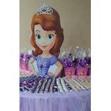 Princesa Sofia Decoração Festa Completa Mesa Chão Busto Mdf
