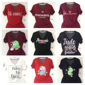Blusas T Shirt Gola Chocker Moda Verão Kit Atacado 10 Pçs