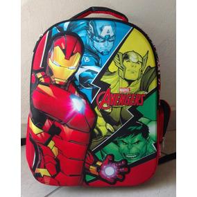 Mochila Escolar Tirantes 3d Primaria Avengers Ironman