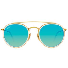 Lente Oculos Ray Ban Rb3387 64 Rb 3387 077 7b Espelhado Azul. Rio Grande do  Sul · Oculos Sol Ray Ban Rb3647n 001 4o 51 Branco Azul Espelhada 584b946585