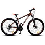 Bicicleta Mtb Aro 29 Phoenix Disc Negro Naranjo