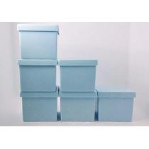 300 Caixinha De Acrílico 5x5 Azul Bebe - Festinha Infantil